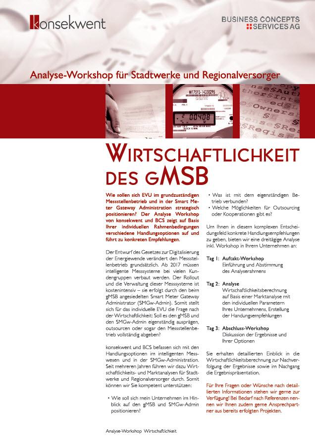 WIRTSCHAFTLICHKEIT des GMSB
